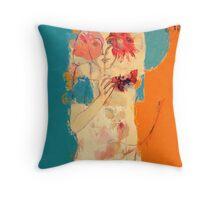 In Blue & Orange Throw Pillow