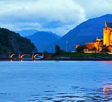 Midnight Upon Eilean Donan by Adrian Alford Photography