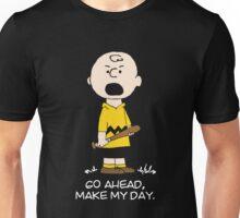 Charlie Make my day on black Unisex T-Shirt