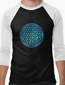 FLOWER OF LIFE - SACRED GEOMETRY - HARMONY & BALANCE Men's Baseball ¾ T-Shirt