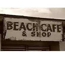 Beach shop sign Photographic Print