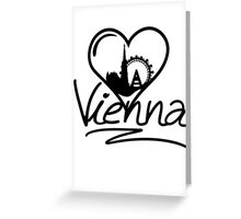 Vienna Heart Greeting Card