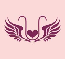ELEXIER - HEART WITH WINGS - UNCONDITIONAL LOVE Baby Tee