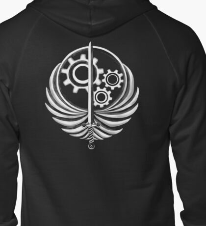 Brotherhood of Steel Emblem Dark Zipped Hoodie