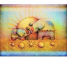 rainbow elephant blessing Photographic Print