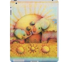 rainbow elephant blessing iPad Case/Skin