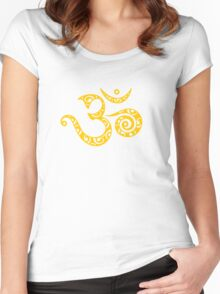 Sacred OM - I AM - Symbol of spiritual strength  Women's Fitted Scoop T-Shirt