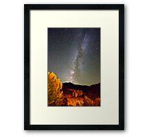 Autumn Milky Way Night Sky  Framed Print