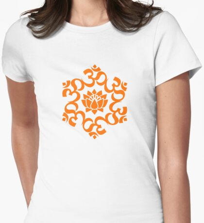 OM LOTUS - Buddhism - Symbol of spiritual strength  Womens Fitted T-Shirt