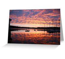 Scilly sunrise Greeting Card