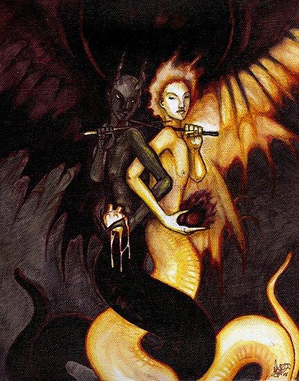 Satan & Lucifer by unknownbinaries