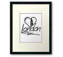 London Heart Framed Print