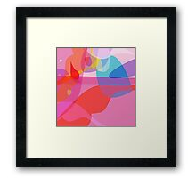 Sixties groove - warm retro abstract Framed Print