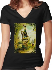 Branca Women's Fitted V-Neck T-Shirt
