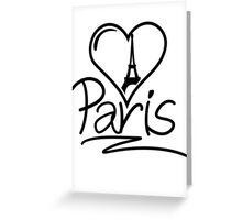 Paris Heart Greeting Card