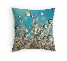 Crazy Cactus Droplets Throw Pillow