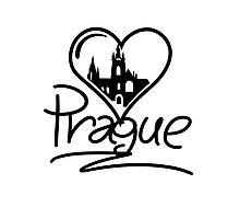 Prague Heart Photographic Print