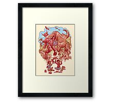 Role playing Framed Print