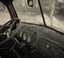 Inside an old junker car by Edward Fielding