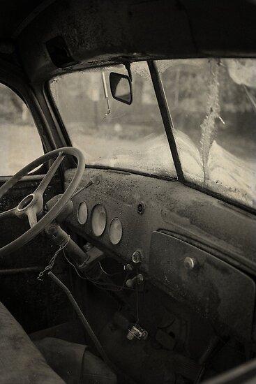 Inside an old junker car by Edward Fielding