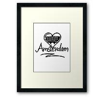 Amsterdam Heart Framed Print