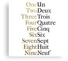 Ten Duel Commandments/Take A Break (Hamilton: An American Musical) Canvas Print