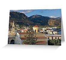Evening in Crete Greeting Card