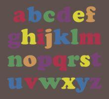 Kids Color Alphabet One Piece - Short Sleeve
