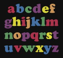 Kids Color Alphabet One Piece - Short Sleeve