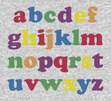 Kids Color Alphabet Kids Tee