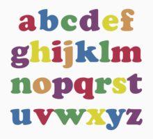 Kids Color Alphabet Kids Tee