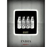 India Product (Black) Photographic Print