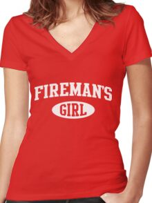 Fireman's Girl Women's Fitted V-Neck T-Shirt