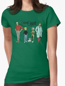 Johnny Quest Womens Fitted T-Shirt