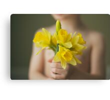 Daffodils for you Canvas Print