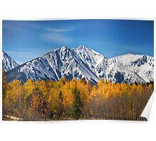 Rocky Mountain Autumn High Poster