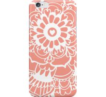 Coral Lacework Doodle iPhone Case/Skin