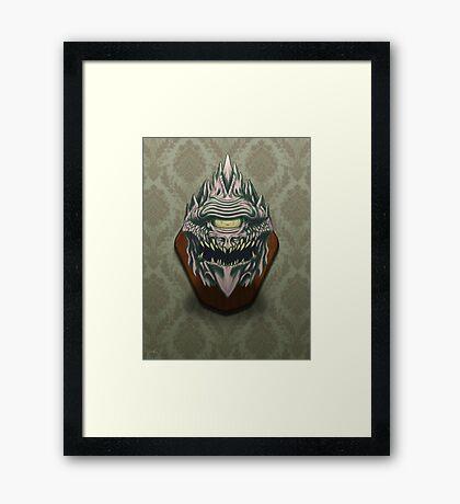 Demon Head Framed Print