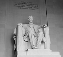 """Lincoln Memorial """"B&W"""" by VDLOZIMAGES"""
