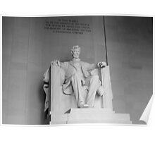 "Lincoln Memorial ""B&W"" Poster"