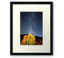 Milky Way October Sky Framed Print