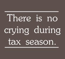 There is no crying in tax season by careers