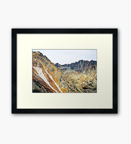 High Tatras in Fall I. Framed Print
