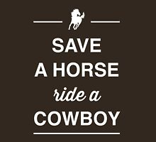 Save a horse ride a cowboy Womens Fitted T-Shirt