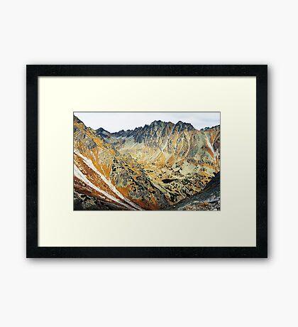 High Tatras in Fall II. Framed Print