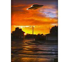 Suburban UFO Photographic Print