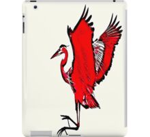 Jumping Red Heron iPad Case/Skin