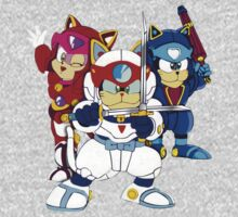 Samurai Pizza Cats - Group Color Baby Tee