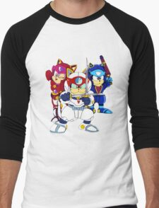 Samurai Pizza Cats - Group Color Men's Baseball ¾ T-Shirt