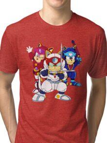 Samurai Pizza Cats - Group Color Tri-blend T-Shirt